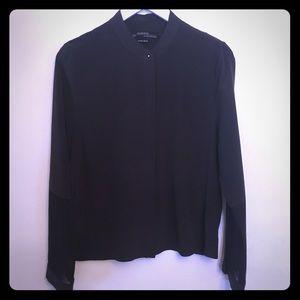 AllSaints deep purple silk blouse SzUS 6